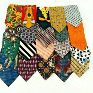 Mixed Lot 20 of Mens Ties Reseller Necktie Bundle